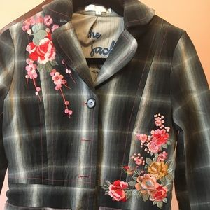 Beautiful Johnny Was style embroidered jacket